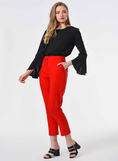 Mizalle Pantolon Kırmızı